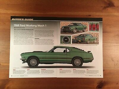 1969 Ford Mustang Mach 1 Buyer's Guide Magazine Ad