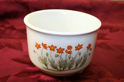 Vintage hand painted Takahashi Japan footed porcelain planter herb pot