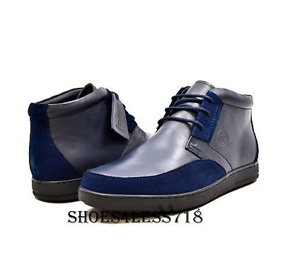 New British Walkers Original Birmingham Two Tone Navy Blue Suede Leather  Shoes 63c9a223b