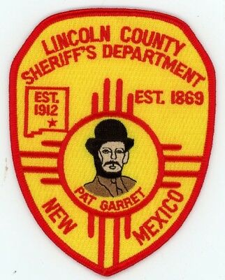 Lincoln County Sheriff New Mexico Patch Police Nice Colorful Pat Garret
