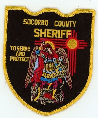 Socorro County Sheriff New Mexico Nm Patch Police Colorful