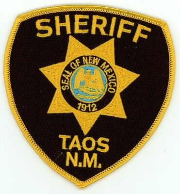 Taos County Sheriff New Mexico Nm Patch Police
