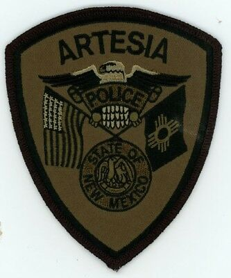 Artesia Police New Mexico Nm Swat Subdued Patch Sheriff
