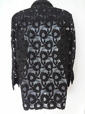 14802259c3691  2K Auth NEW with Tags DOLCE   GABBANA Black EMBROIDERED Tulle SHIRT Top  BLOUSE