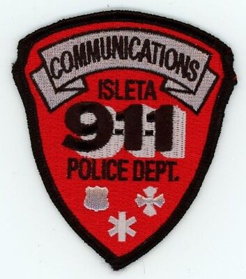 Isleta Police Communications 911 New Mexico Nm Patch 3 1/2 Inches Tall