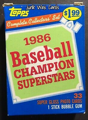 1986 Topps Woolworth Glossy Complete Collector's Baseball Card Set