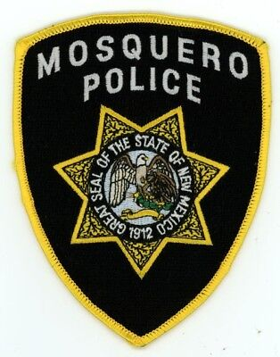 Mosquero Police New Mexico Patch Sheriff Colorful