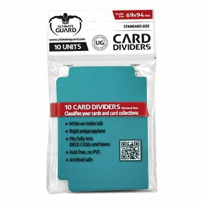 Ultimate Guard TRADING CARD STORAGE DIVIDERS PACK OF 10 - Petrol