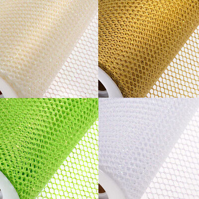 GLITTER HONEYCOMB NET 10M x 450mm ROLLS WEDDING CHAIR SASH PARTY TABLE RUNNER