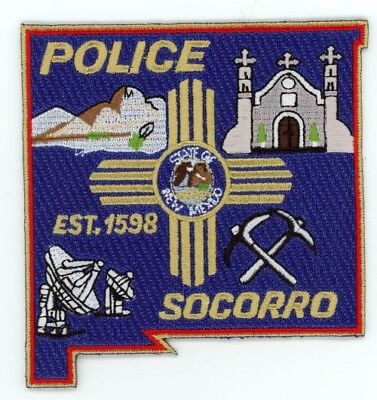 Socorro Police New Mexico Nm Patch Sheriff State Shaped Colorful