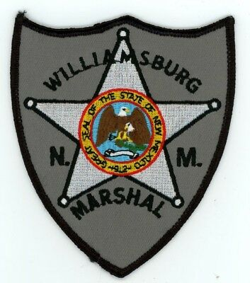 Williamsburg Marshal New Mexico Nm Patch Police Sheriff