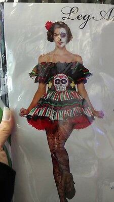 32aa4f318de SEXY LEG AVENUE Day of the Dead SUGAR SKULL Halloween Costume Plus ...
