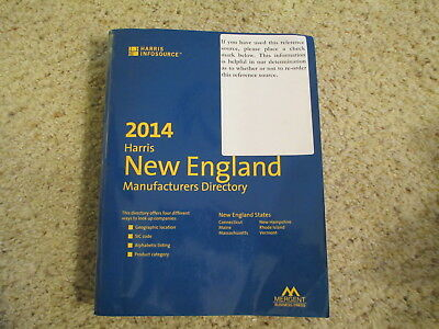 2014  Harris New England Directory of Manufacturers 1,537 pages