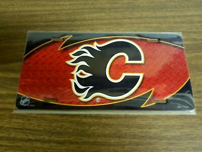 Calgary Flames - NHL Hockey Metal Glossy Commemorative License Plate