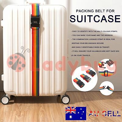 3x Travel Luggage Suitcase Bag Packing Secure Safe Strap Belt Password Lock 2M