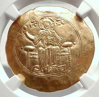 JOHN II Comnenus 1118AD Ancient GOLD Byzantine Coin JESUS CHRIST MARY NGC i73333