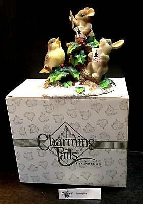 Charming Tails Mouse Figurine Everybody Sing Winter Christmas Carol Choir w/Box