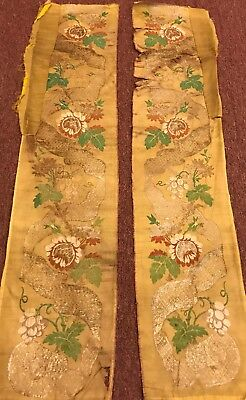 An Awesome Rear 17Th Century  Pair Of Chinese Imborderi
