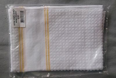 Kitchen Towel 40 x 60cm with evenweave insert for cross stitch. 95% cotton