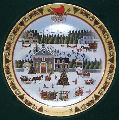 """Charles Wysocki """"Christmas Love"""" Annual (2000) Collection 1st Plate in Series"""