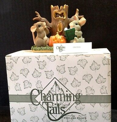 Charming Tails Figurine Ghost Stories Halloween Fall w/Box Pumpkin Rabbit Mouse