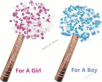 Baby Shower Party Twist Popper Gender Reveal 30Cm Cannon Confetti Boy Or Girl ?