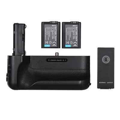 for Sony A7II/A7M2/A7R2 Vertical Camera Battery Grip +NP-FW50 2.4G Wireless A8S4
