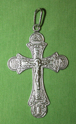 Vintage Crucifix 925 Silver Cross Pendant Orthodox Crosses Collecting #13