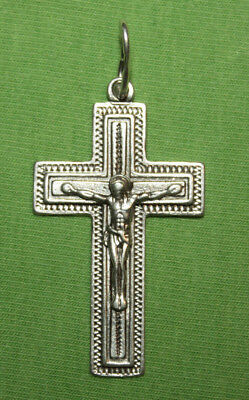 Vintage Crucifix 925 Silver Cross Pendant Orthodox Crosses Collecting #16
