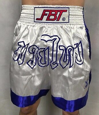 Authentic FBT Mens Muay Thai Kickboxing MMA Training Shorts Size M
