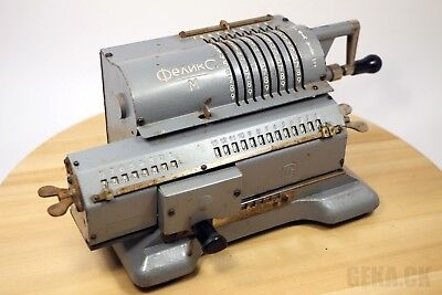 GOOD!!! Mechanical Calculator Felix Arithmometer Vintage Adding Machine Works!
