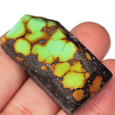63.3Ct 100% Natural Spiderweb Turquoise High-hardness Pendant Cab MYKp373