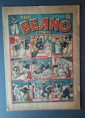 Beano comic. #126. 1940.' War - time issue '  Fair/Good cond.