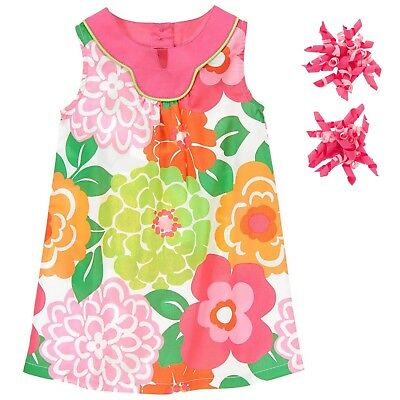 Gymboree Size 5 Girl's Tropi-Cutie A-Line Dress Matching Curly Hair Clips BNWT