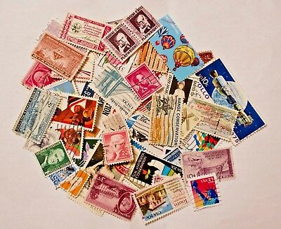 Used USA Postage Stamps 50+ Used and off Paper Great for Crafts