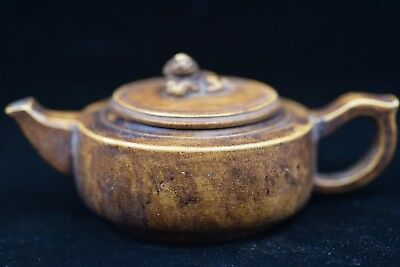 Antique Chinese old Yixing purple sand teapot Qianlong V707