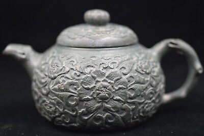 Antique Chinese old Yixing purple sand teapot Qianlong V708