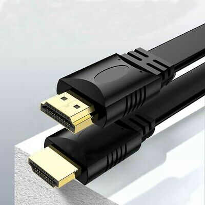 HDMI Cable v1.4 3D Flat High Speed with Ethernet Full HD 1080P HDTV Cord