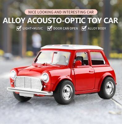 1:38 Alloy Car Pull Back Diecast Model Toy Sound Light Collection Vehicle Gift