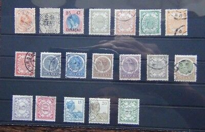 Curacao 1895 Surcharge 1903 values to 25c 1915 values to 20c etc Fine Used