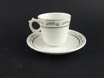Antico Set Tazza+Piattino Fine '800 Porcellana Ceramica Richard Milano Da Museo