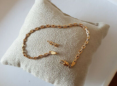 Bracelet or blanc or jaune or blanc 18cts 750 millième made in Italy