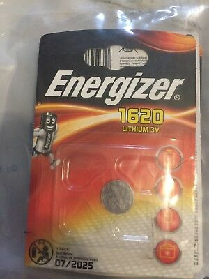 2 x Energizer 1620 CR1620 3V Lithium Coin Cell Battery DL1620 KCR1620, BR1620