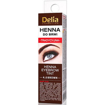 Delia Eyebrow HENNA Traditional Eyebrow Tint Colour BROWN 2ml