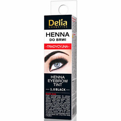 Delia Eyebrow HENNA Traditional Eyebrow Tint Colour BLACK 2ml