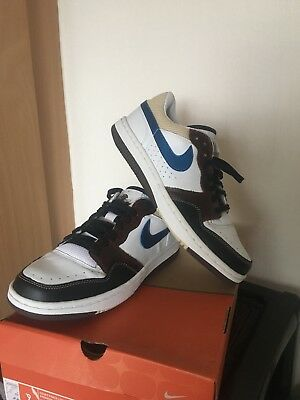 best sneakers ea1f4 bed46 Nike Court Force Low Premium White Military Blue Bison UK 8 Rare Deadstock