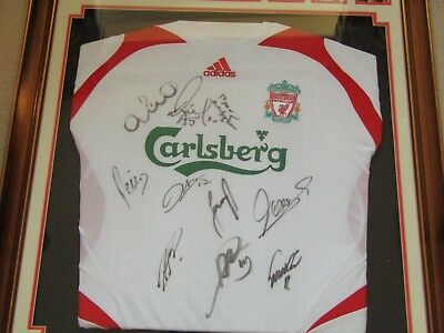 85aa714fb Signed Liverpool Shirt 2006 2007 Squad   Steven Gerrard Signed Ticket With  COA s