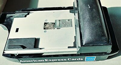 Credit Card Imprinting Vintage Machine American Express Manual Slide Top
