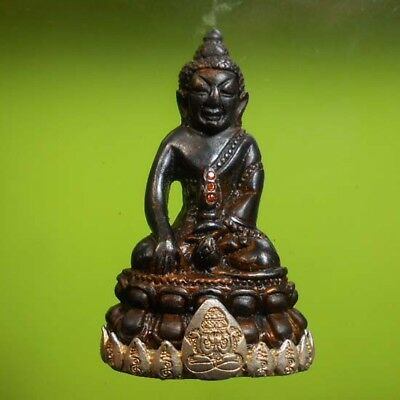 Top Old Thai Buddha Amulet Phra Kring Lp Mhoon Very Nice !!!