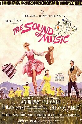 The Sound of Music Film Movie 1960's Advert Vintage Retro style Metal Sign,